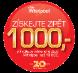 Whirlpool nabízí bonus až 1 000 Kč