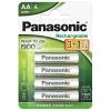Panasonic AA, HR06, 1900mAh, Ni-MH, blistr 4ks