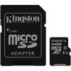 Kingston 64GB UHS-I U1 (45R/10W) + adapter