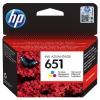 HP 651, 300 stran, CMY