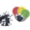 EMOS 80 LED, kulička, 8m, řetěz, vícebarevná, časovač, i venkovní použití
