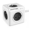 Powercube Extended 5x zásuvka, 1,5m šedý/bílý