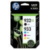 HP 932XL černá + 933XL, CMYK