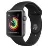 Apple GPS 42mm pouzdro z vesmírně šedého hliníku - černý sportovní řemínek