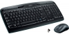 Logitech Wireless Combo MK330, US černá
