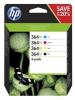 HP 364XL Combo pack 4x 550 str. - černá, žlutá, azurová, purpurová