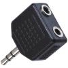 AQ stereo 3,5 mm jack / 2x 3,5 mm jack M/F