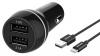 Philips 2x USB, 3,1A + USB-C kabel