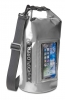 """Celly voděodolný vak Explorer 5L s kapsou na telefon do 6,2"""" - šedý"""