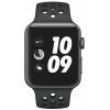 Apple Series 3 GPS 42mm pouzdro z vesmírně šedého hliníku - antracitový/černý sportovní řemínek Nike