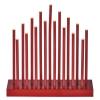EMOS červený svícen, 3×AA, teplá bílá, časovač