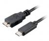 akasa USB micro B/USB-C 3.1, 1m černý