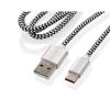 GoGEN USB / USB-C, 1m, opletený, zkumavka