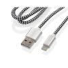 GoGEN USB / lightning, 1m, opletený, zkumavka