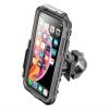 Interphone na Apple iPhone XS Max, úchyt na řídítka