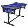 E-Blue 135x78,5 cm, RGB podsvícení, výškově nastavitelný, s podložkou pod myš