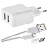 EMOS 1x USB, Micro USB kabel, USB-C redukce, 1m