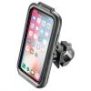 Interphone na Apple iPhone X/Xs, úchyt na řídítka, voděodolné pouzdro
