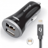 Aligator 2xUSB, smart IC, 3,4A + Lightning kabel
