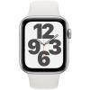 Apple GPS 40mm pouzdro ze stříbrného hliníku - bílý sportovní náramek
