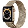 Apple GPS + Cellular, 44mm zlaté pouzdro z nerezové oceli - zlatý milánský tah