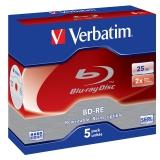 Verbatim BD-RE SL 25GB, 2x, jewel box, 5ks