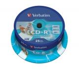 Verbatim Printable CD-R DLP 700MB/80min, 52x, 25-cake