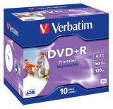 Verbatim Printable DVD+R 4,7GB, 16x, jewel box, 10ks
