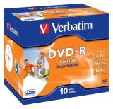 Verbatim DVD-R 4.7GB, 16x, printable, jewel box, 10ks