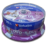 Verbatim DVD+R DualLayer, 8,5GB, 8x, printable, 25cake