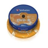 Verbatim DVD-R 4,7GB, 16x, 25cake