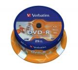 Verbatim Printable DVD-R 4.7GB, 16x, 25cake