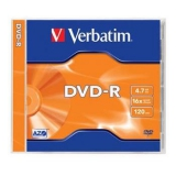 Verbatim DVD-R 4,7GB, 16x, jewel box,1ks