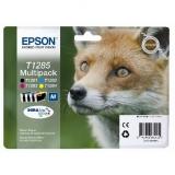 Epson T1285, 16,4ml - originální černá/červená/modrá/žlutá