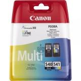 Canon PG-540 / CL-541 - originální černá/červená/modrá/žlutá