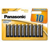 Panasonic ALKALINE POWER AA, LR06, blistr 10ks