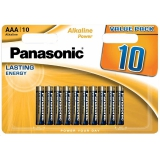 Panasonic ALKALINE POWER AAA, LR03APB/10BW, blistr 10ks