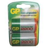 GP D, HR20, NiMH, 2200mAh, blistr 2ks