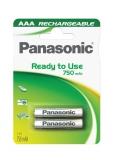 Panasonic Evolta AAA, HR03, 750mAh, Ni-MH, blistr 2ks