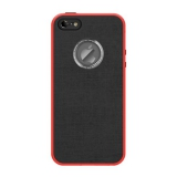 Aprolink Yum Macaron Case pro iPhone 5s černý/červený