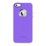 Aprolink Luminous Aluminum Ring Case pro iPhone 5s fialový