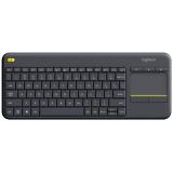 Logitech Wireless Keyboard K400 Plus, CZ/SK černá
