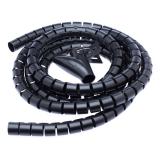 Connect IT Trubice pro kabely WINDER, 2,5m x 20mm černý