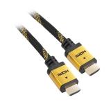 GoGEN HDMI 1.4, 3m, pozlacený, opletený, High speed, s ethernetem černý