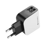 GoGEN ACH 200, 2x USB, 2,1A černá/bílá