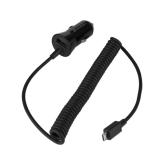 GoGEN CH 24 CC, 1x USB + kroucený microUSB kabel 1,2m černá