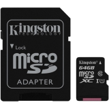 Kingston MicroSDXC 64GB UHS-I U1 (45R/10W) + adapter