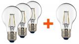 Set (4x Žárovka LED Tesla Crystal Retro klasik, 4W, E27, teplá bílá)