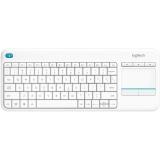 Logitech Wireless Keyboard K400 Plus, US bílá