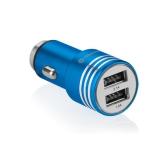 GoGEN kovový bezpečnostní hrot, 2x USB modrý